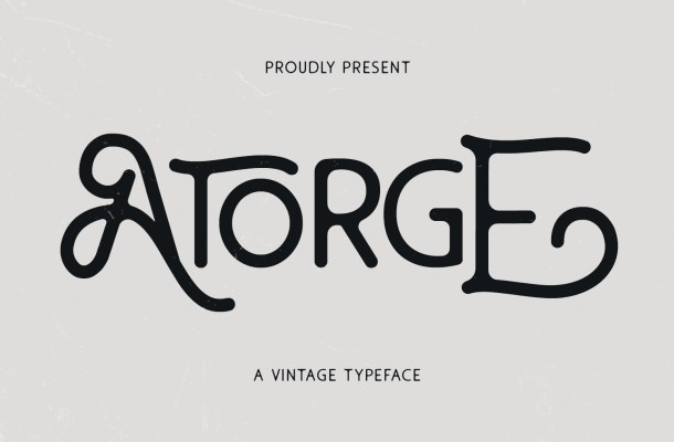 Atorge-Font