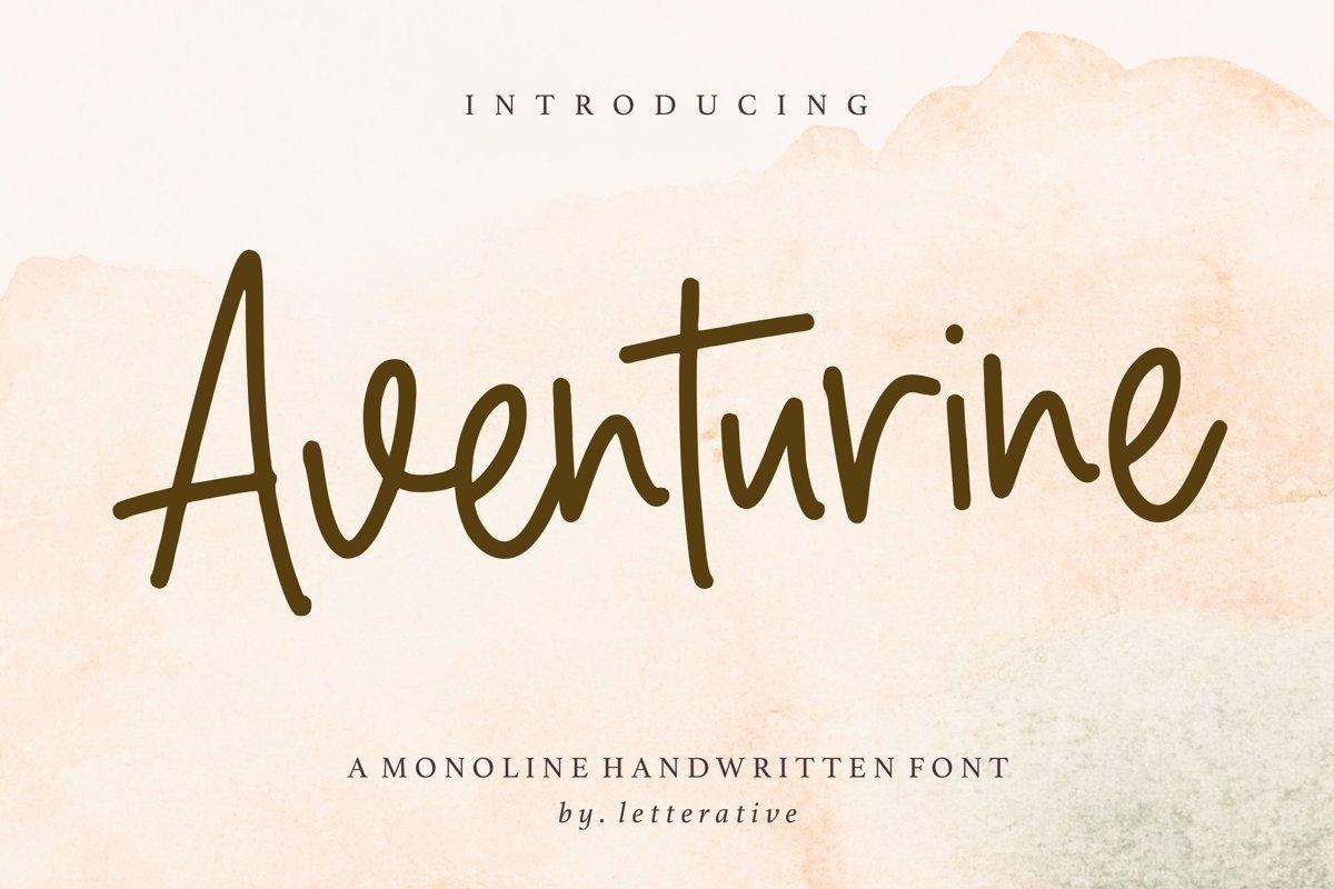 Aventurine-Font