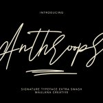 Anthroops Font