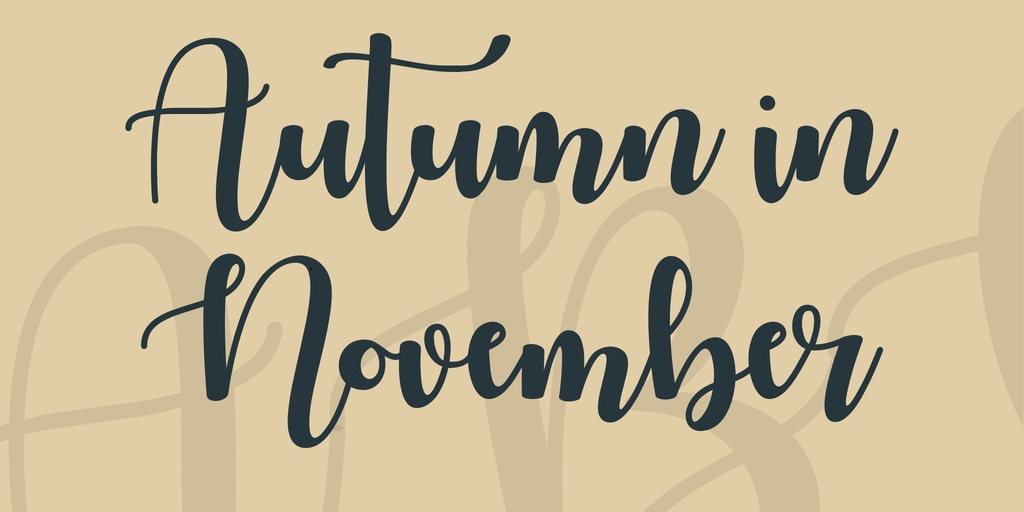 Autumn-in-November-Font