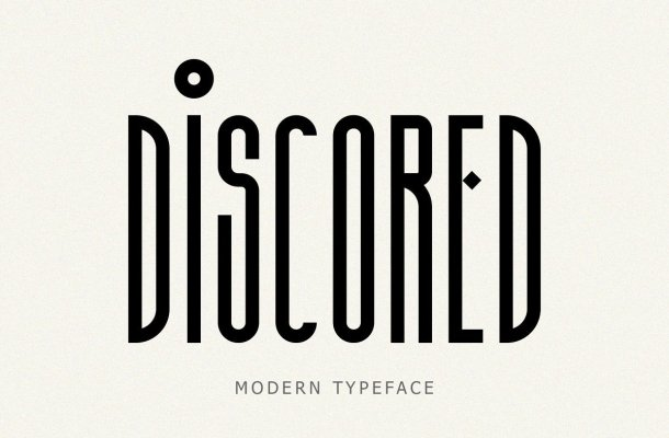 Discored Typeface
