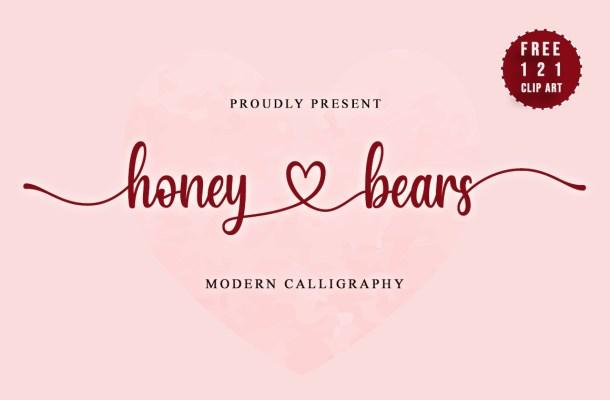 Honey-Bears-Font
