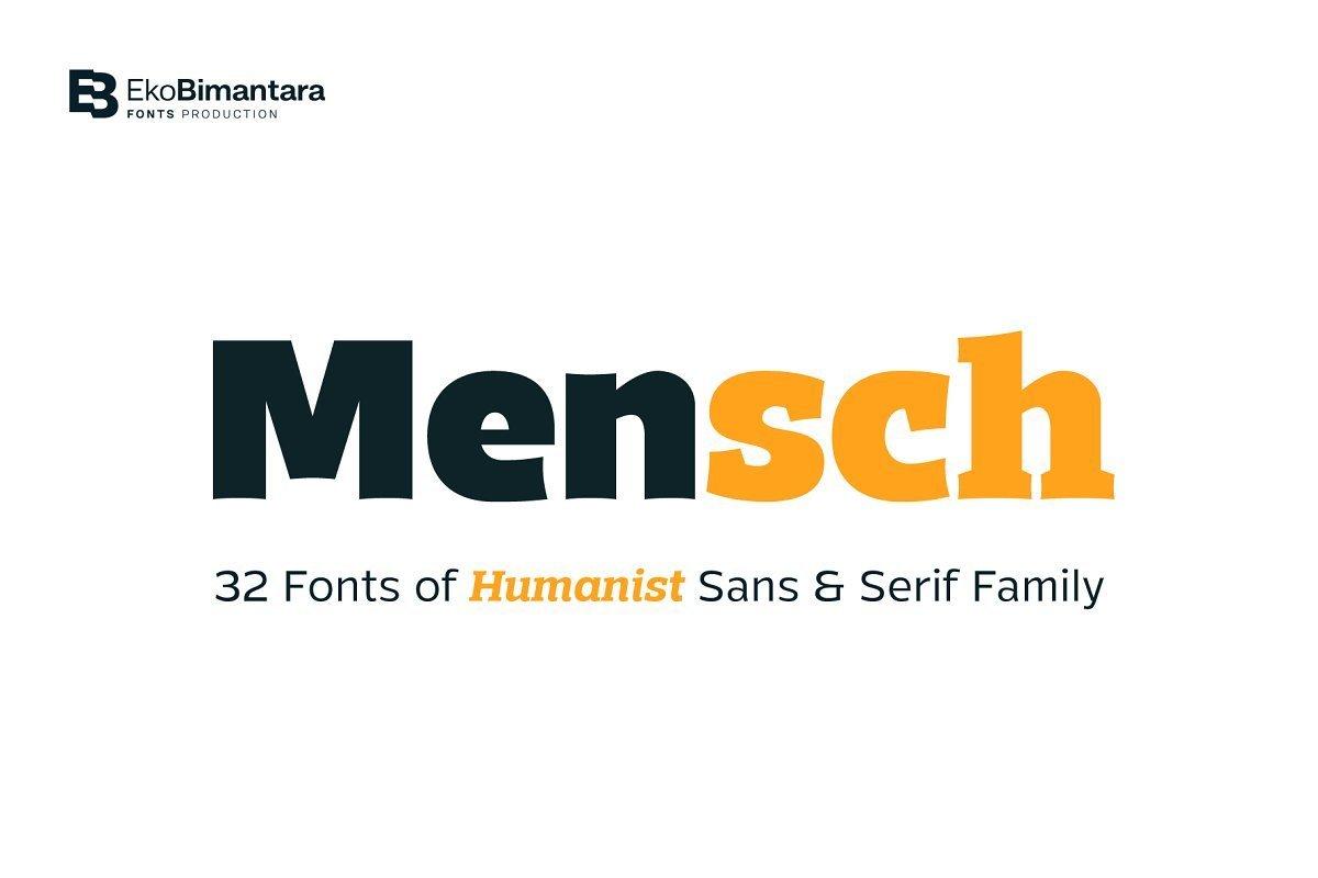 Mensch-Font