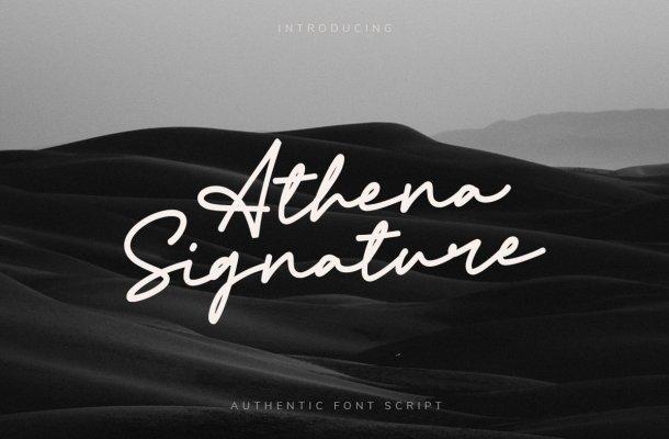 Athena-Signature-Font-1