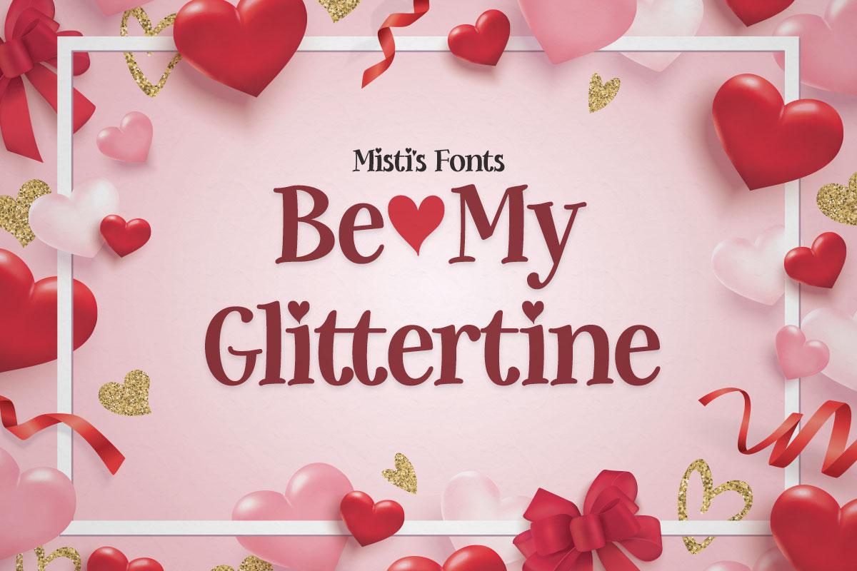 Be-My-Glittertine-Font-1