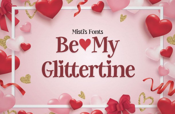 Be-My-Glittertine-Font-1