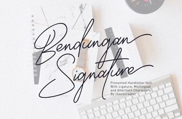 Bendungan Signature Font