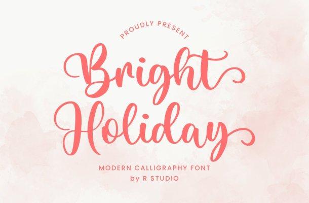 Bright-Holiday-Font