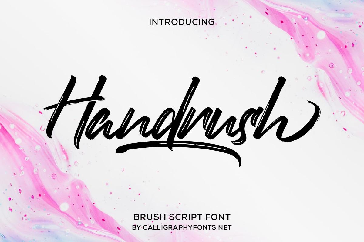 Handrush-Font