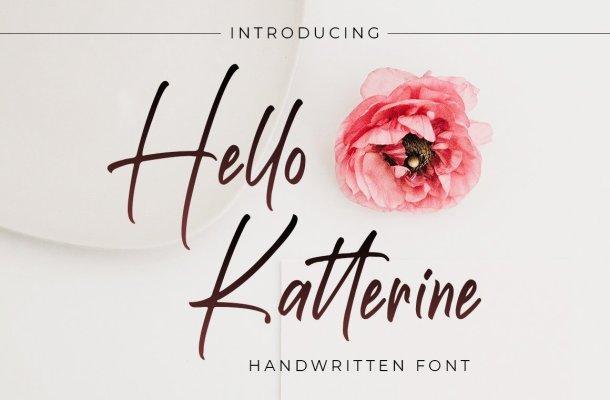 Hello Katterine Font