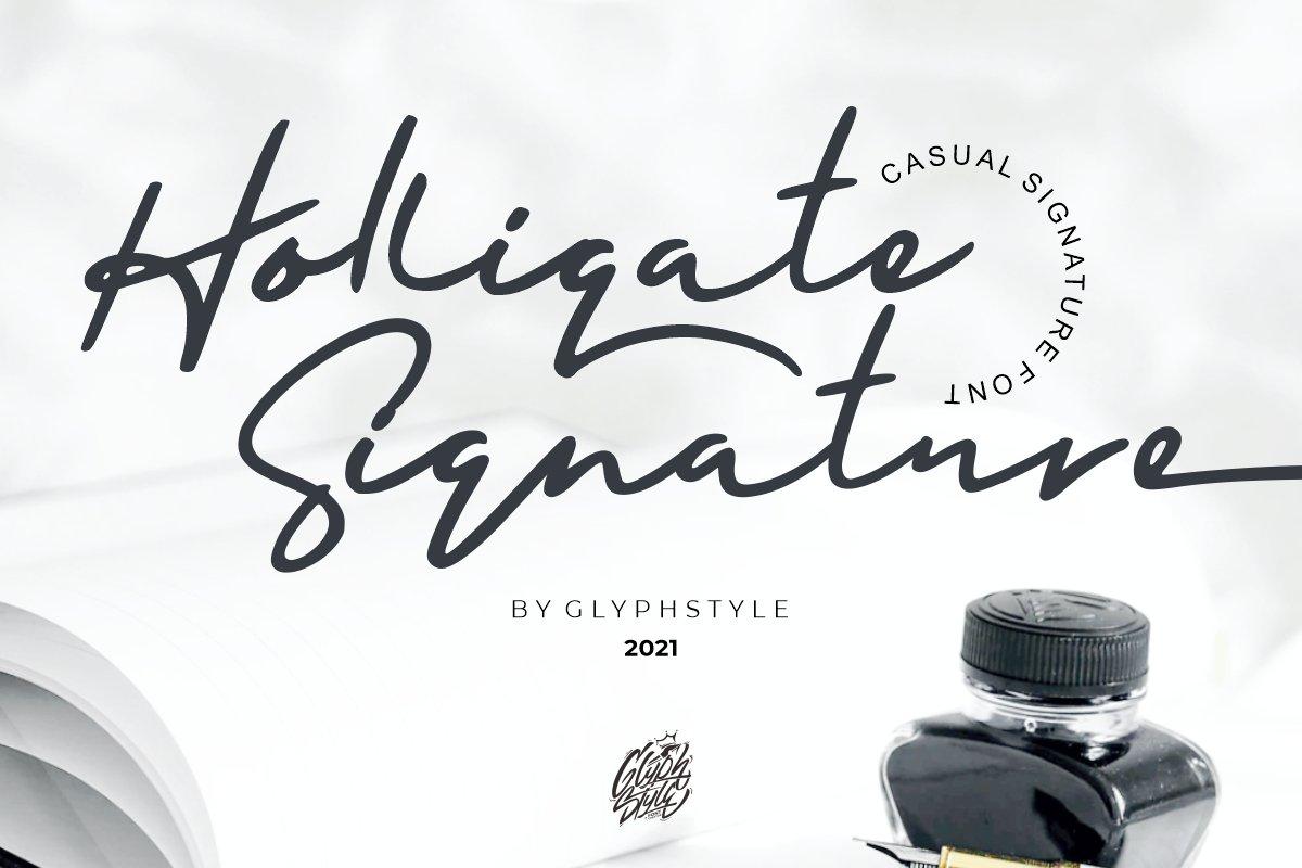Holligate-Signature-Font