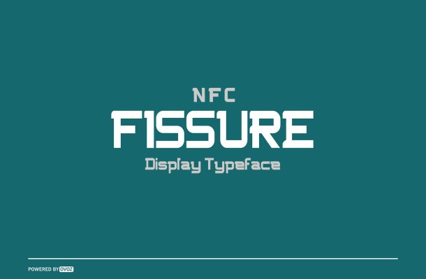 NFC FISSURE Typeface