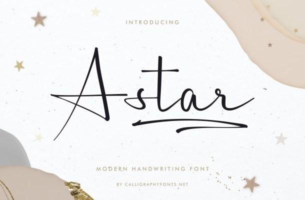 A Star Font