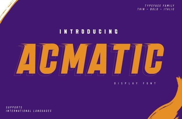 Acmatic Font