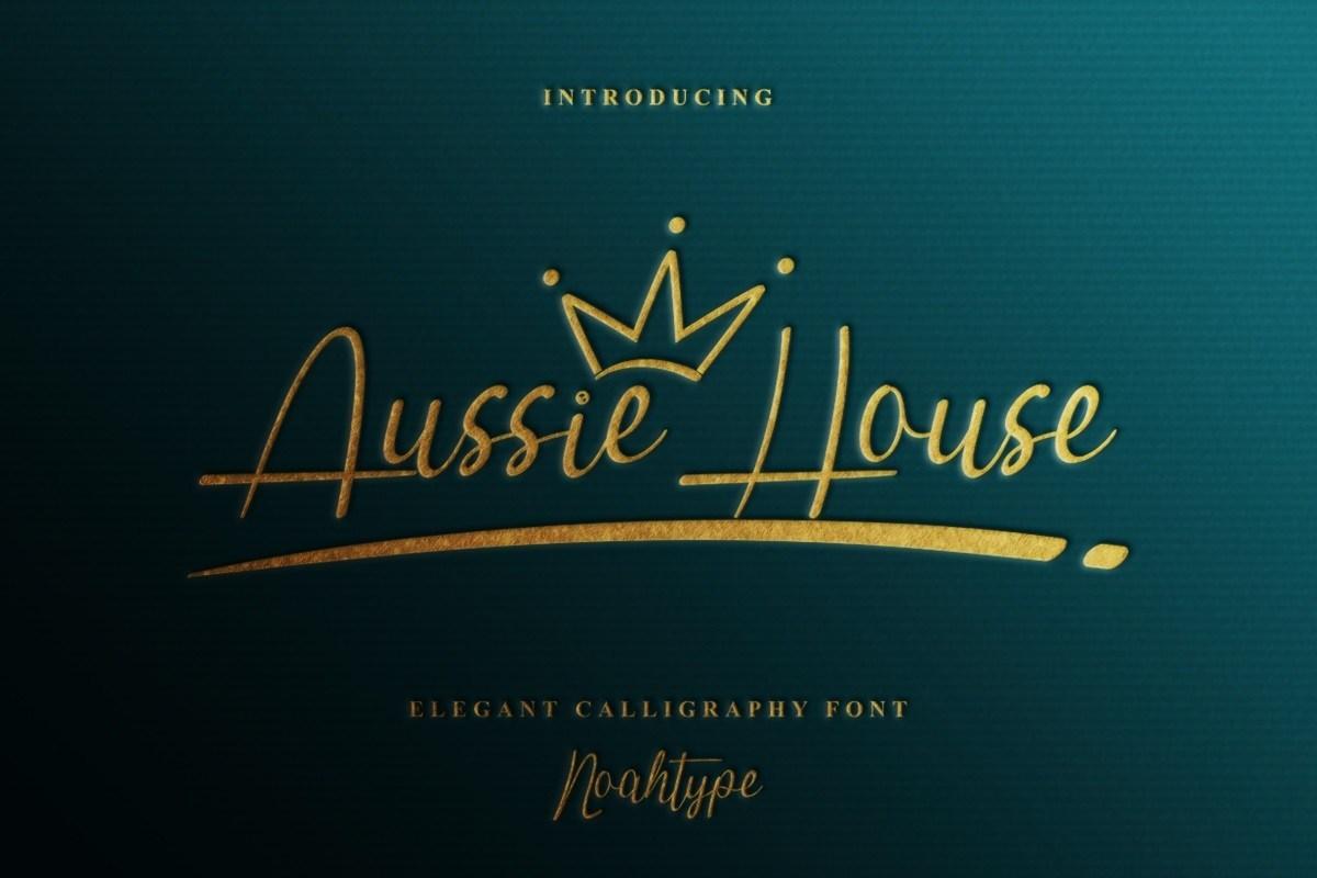Aussie-House-Font