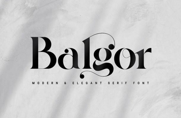 Balgor Font