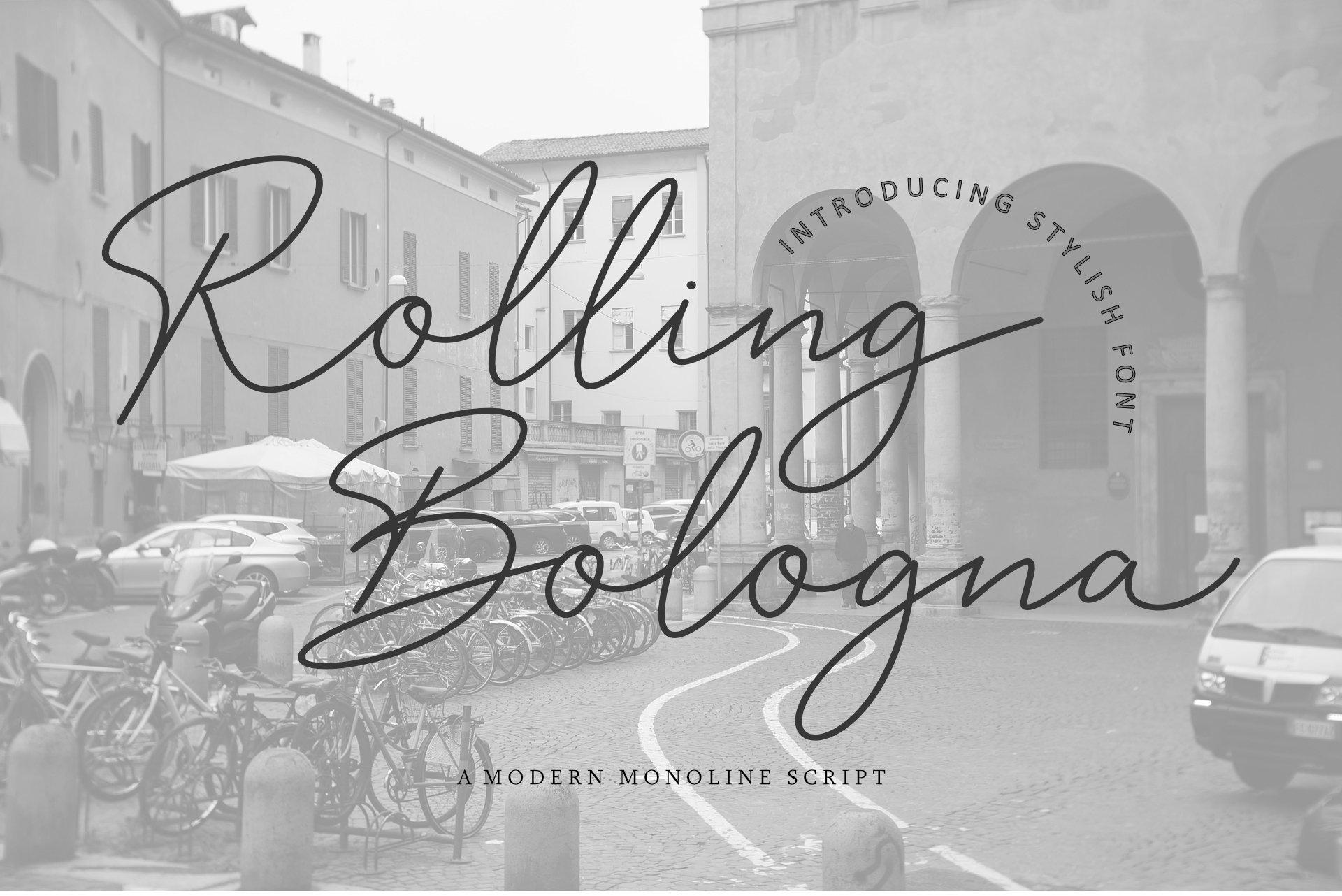 Rolling-Bologna-Font