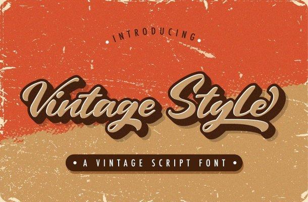 Vintage-Style-Font