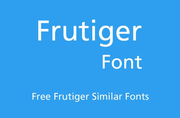 Frutiger Font Free Alternatives