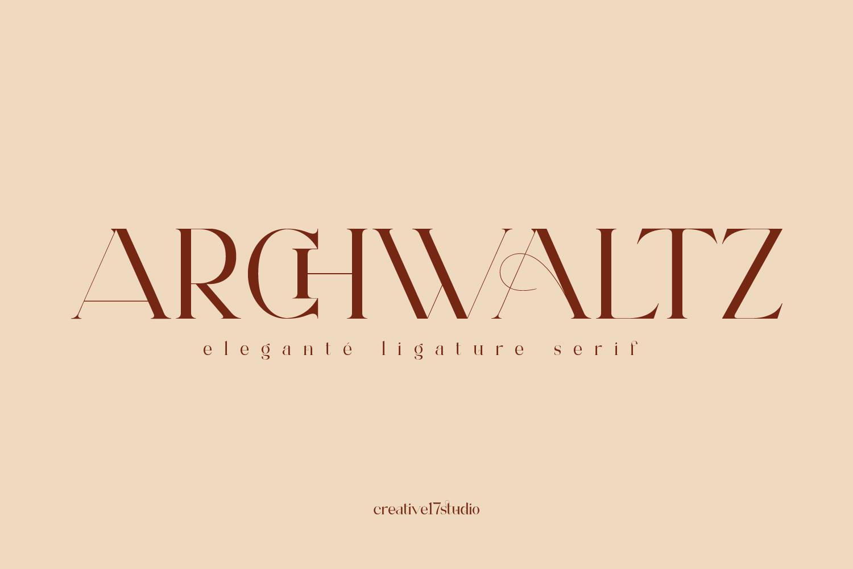 Archwaltz-Font