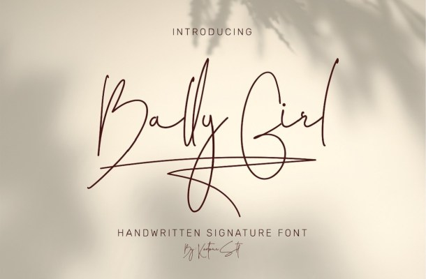 Bally Girl Font