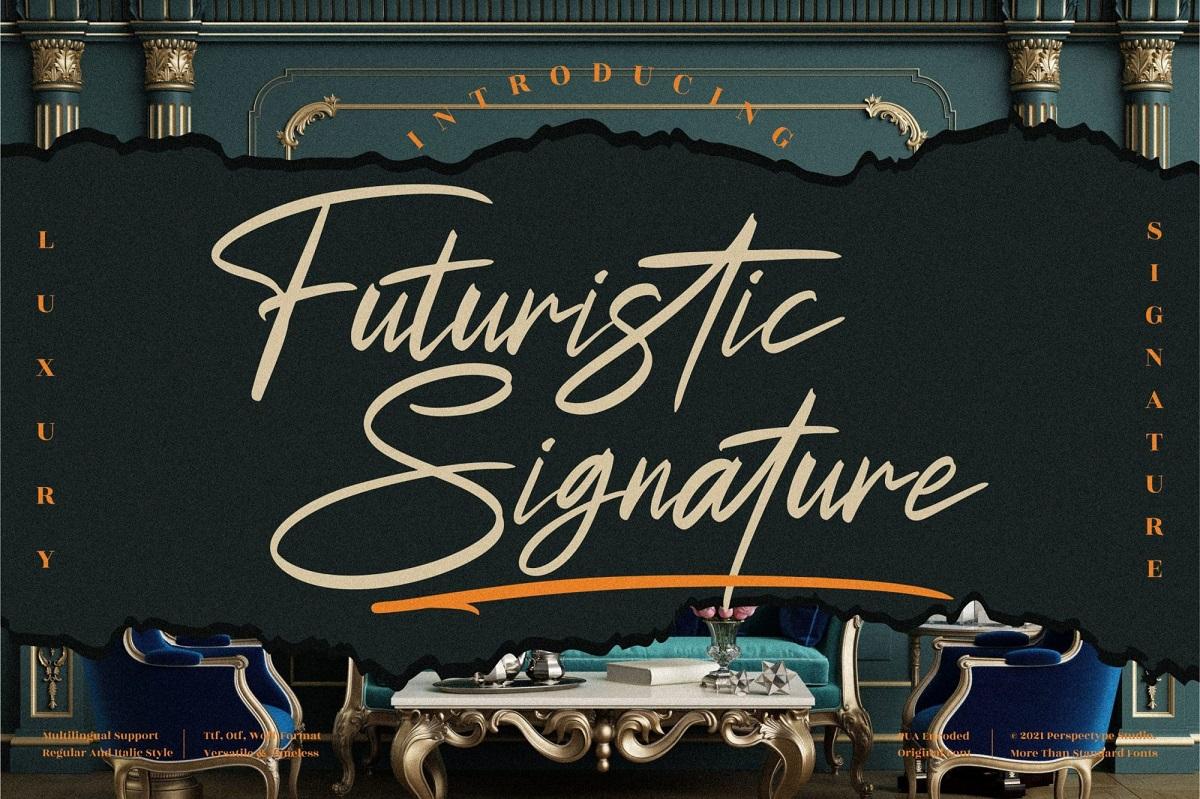 Futuristic-Signature-Font