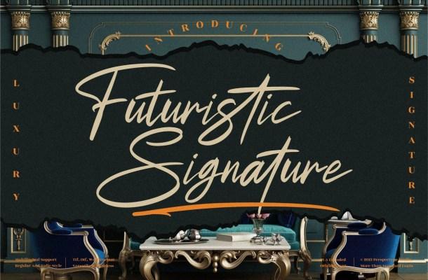 Futuristic Signature Font