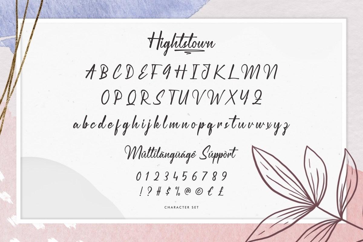 Hightstown-Font-3