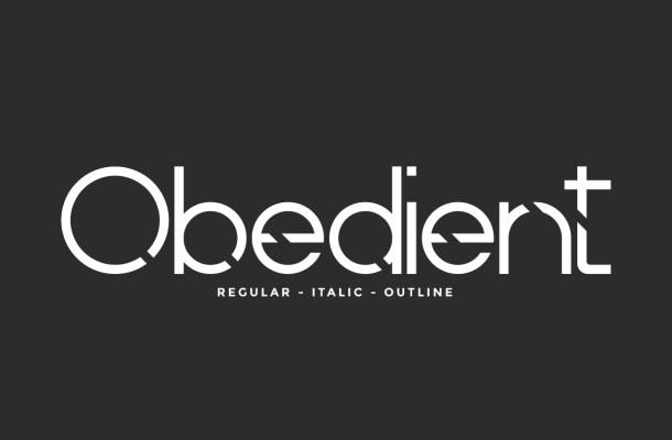 Obedient Font