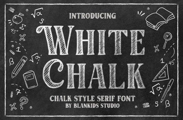 White Chalk Font
