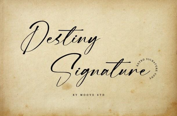 Destiny-Signature-Font