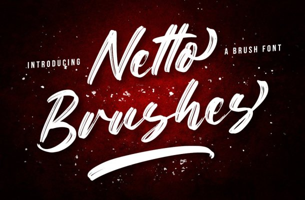 Netto-Brushes-Font