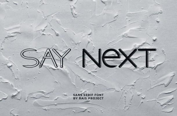 Say-Next-Font