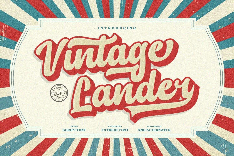 Vintage-Lander-Font