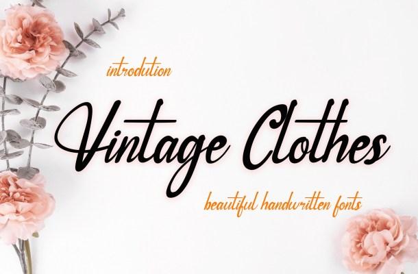 Vintage-Clothes-Font