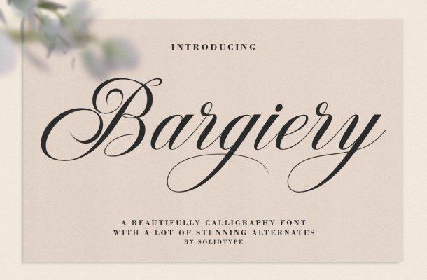 Bargiery Font