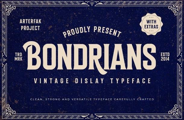 Bondrians-Font