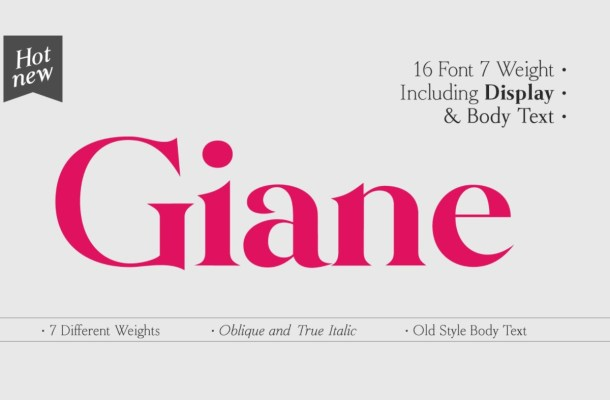 Giane Font Family