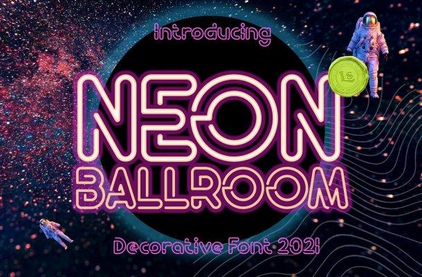 Neon-Ballroom-Font