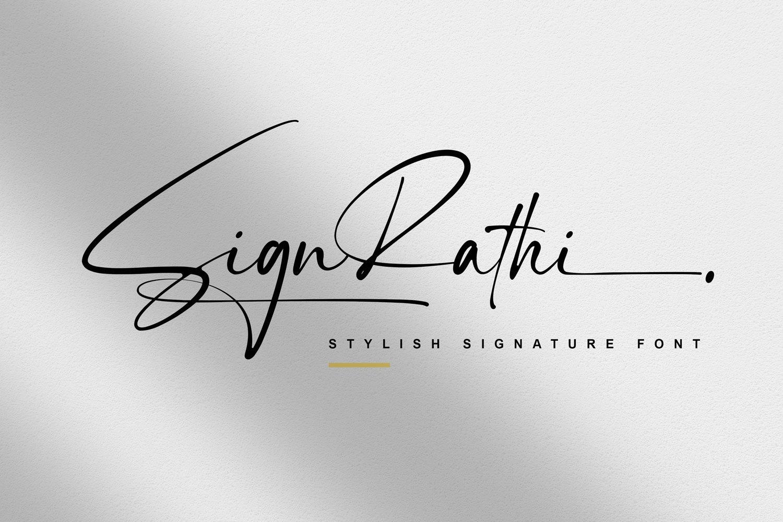 Sign-Rathi-Font