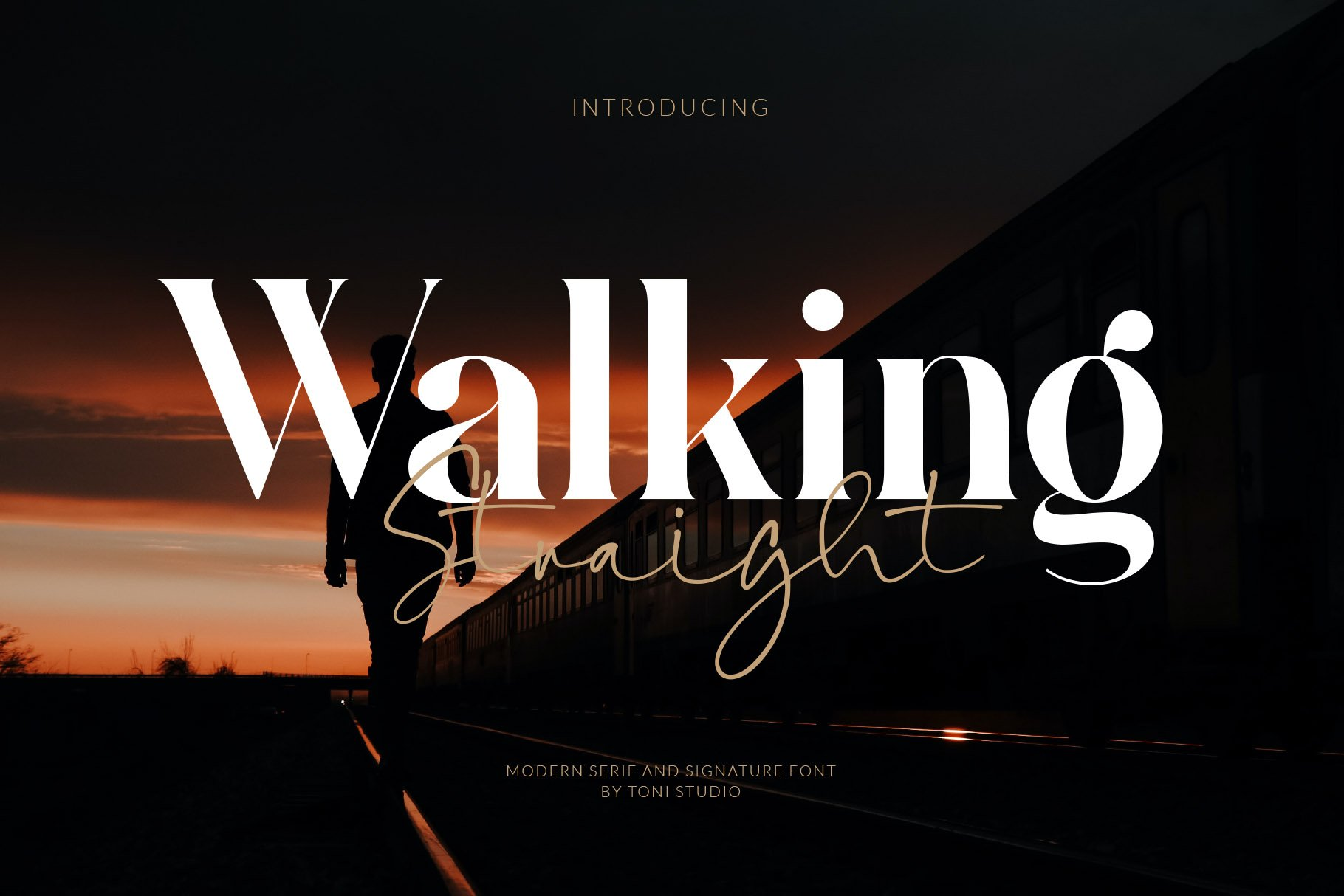 Walking-Straight-Font-Duo