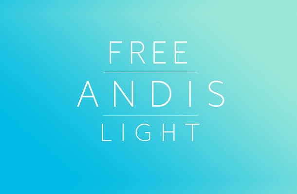 Andis Light Font