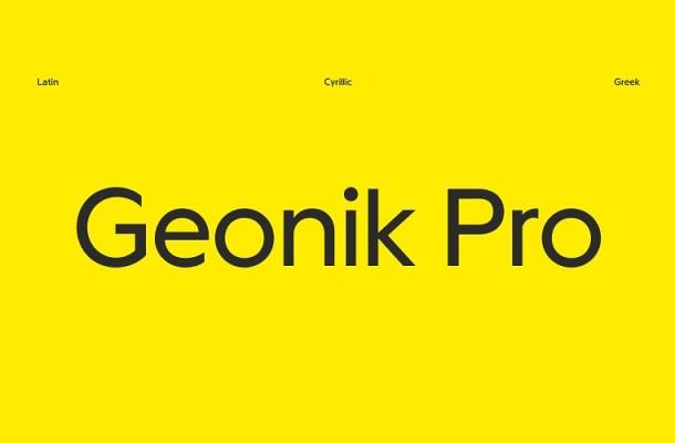 Geonik Pro Font