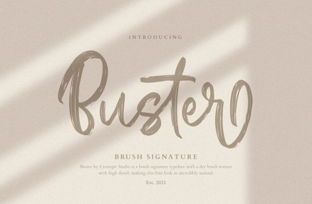 Buster Font