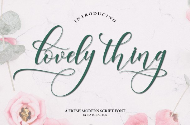 Lovely Thing Calligraphy Font