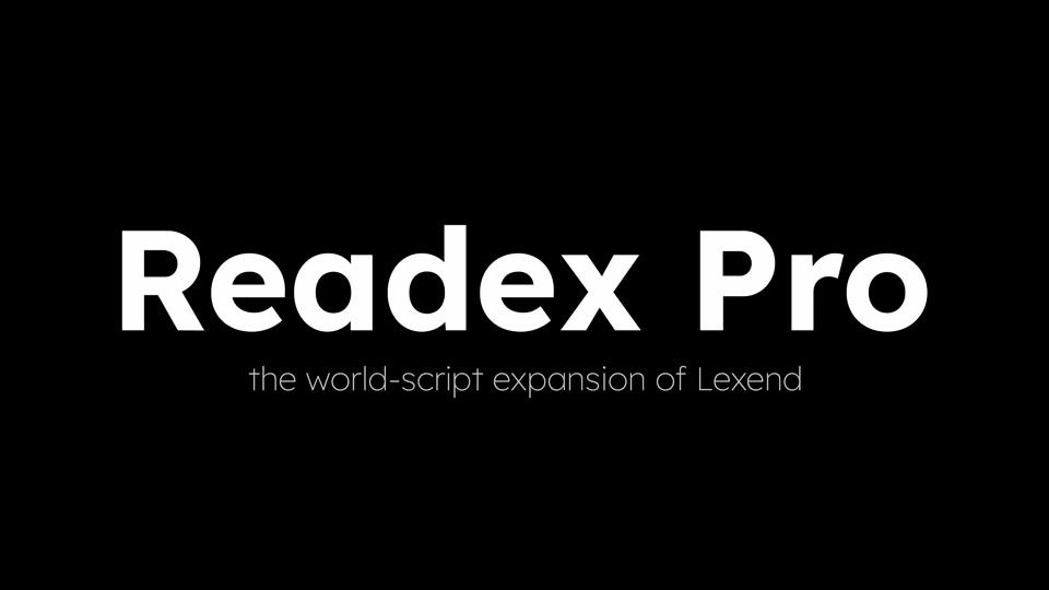 Readex-Pro-Font