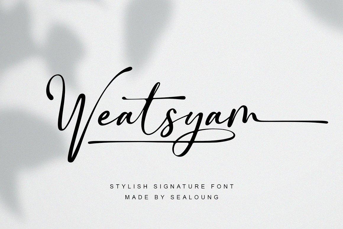 Weatsyam-Font