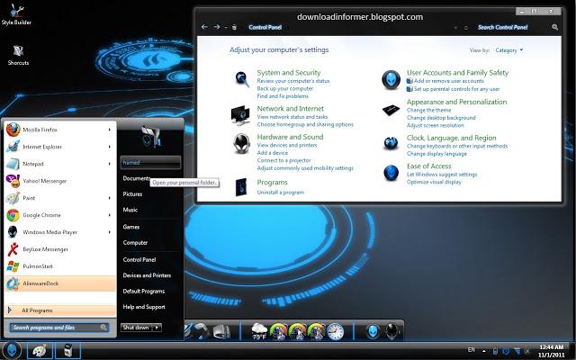 Alienware Skin Pack for Windows 7 - Download Informer