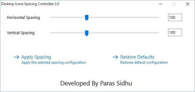 Desktop Icons Spacing Controller 2 1 For Windows 10/8 1/7 - Download