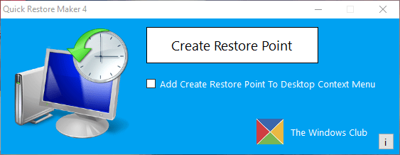 Quickly Create Restore Point With This Utility - Download